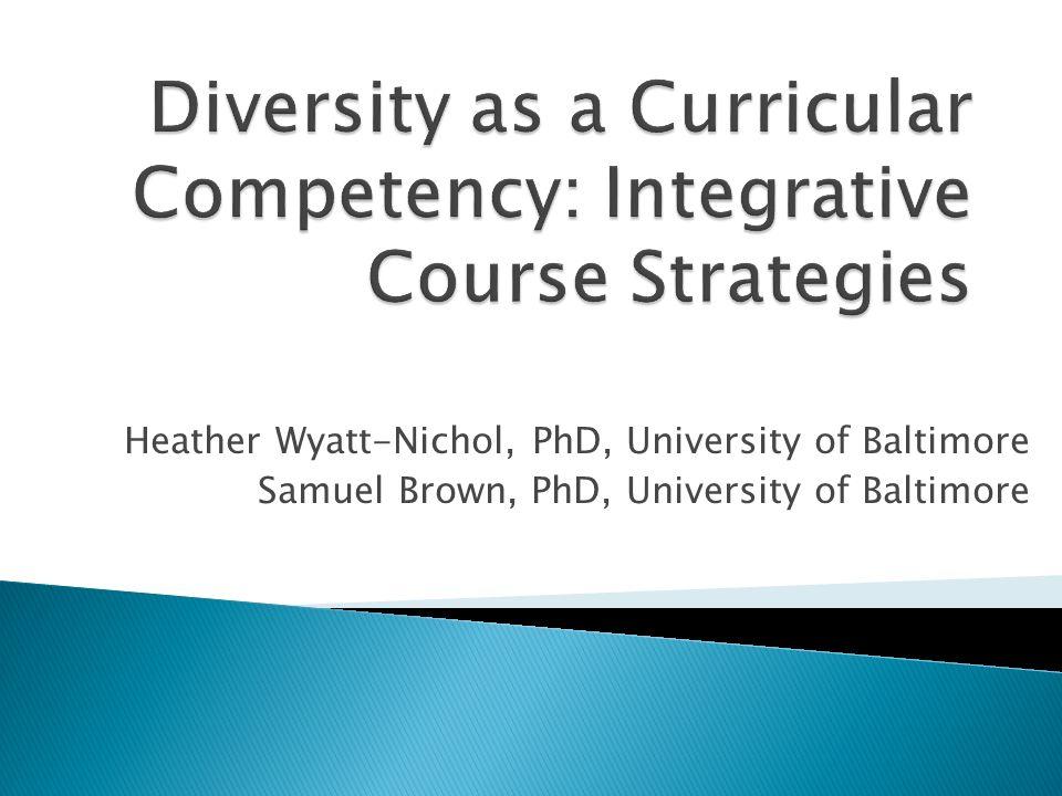Heather Wyatt-Nichol, PhD, University of Baltimore Samuel Brown, PhD, University of Baltimore