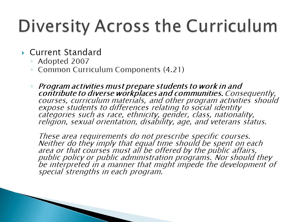 Guiding principles, #8 If curricular competencies are to ensure that students will be capable of acting ethically and effectively in pursuit of the public interest, the required competencies must reflect the relevant environmental characteristics of the public service such as diversity, globalization, rapid technological change, and its multi-sectoral scope