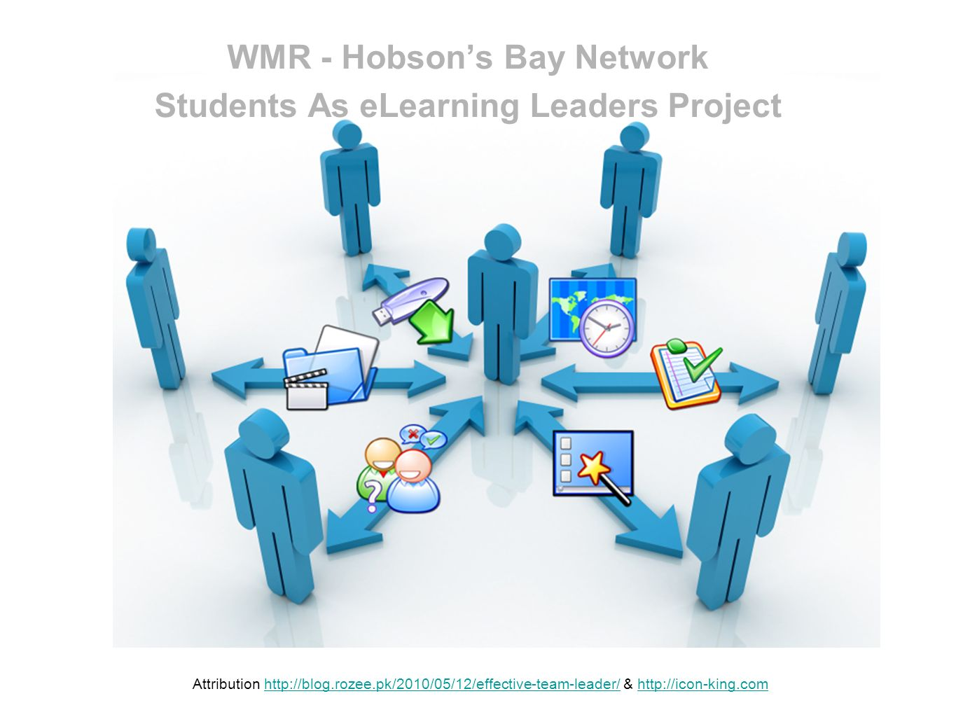 WMR - Hobsons Bay Network Students As eLearning Leaders Project Attribution http://blog.rozee.pk/2010/05/12/effective-team-leader/ & http://icon-king.