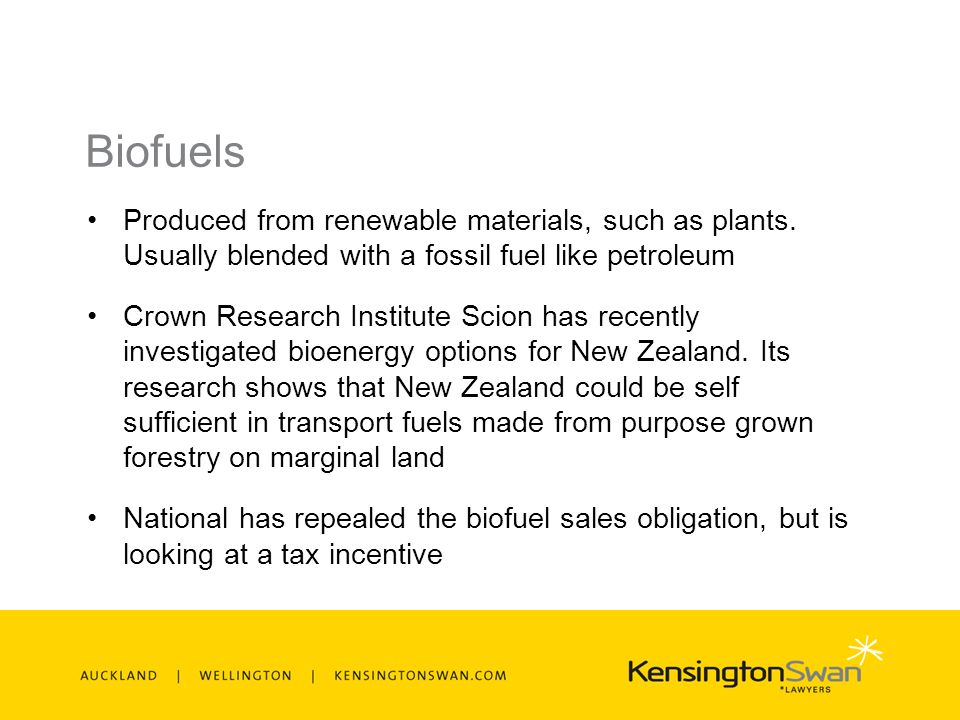 Biofuels Produced from renewable materials, such as plants.