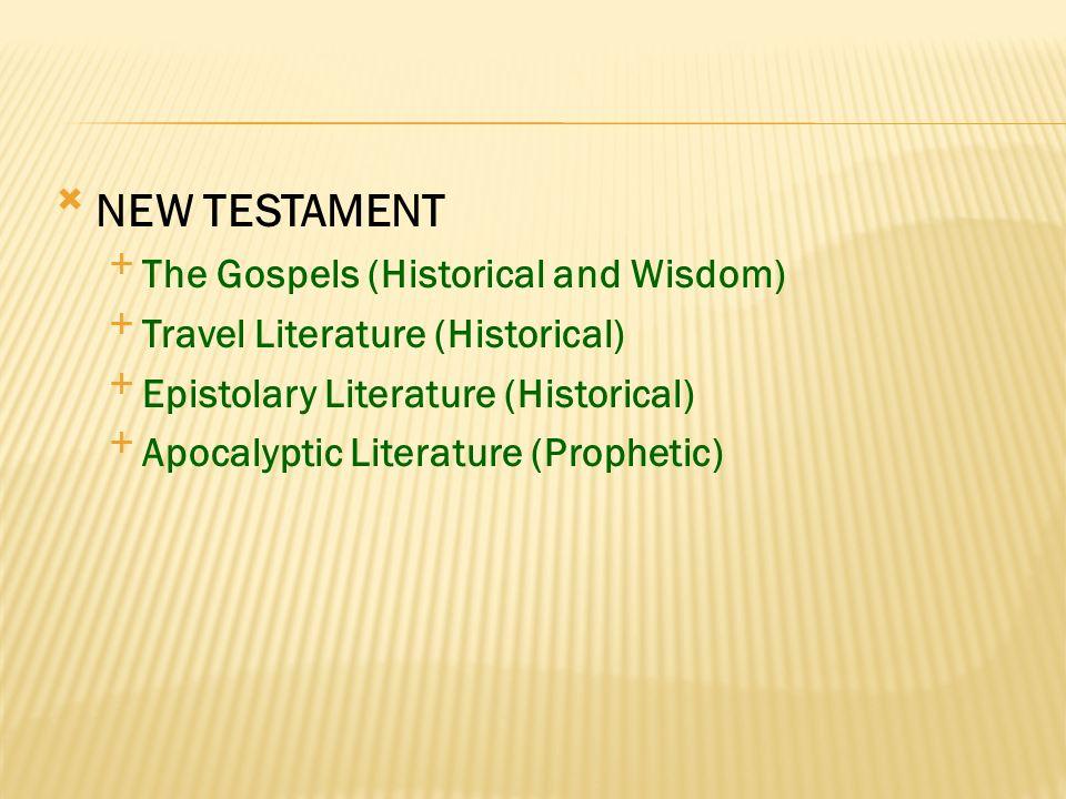 OLD TESTAMENT Pentateuch Historical Books Wisdom Books Prophetic Books