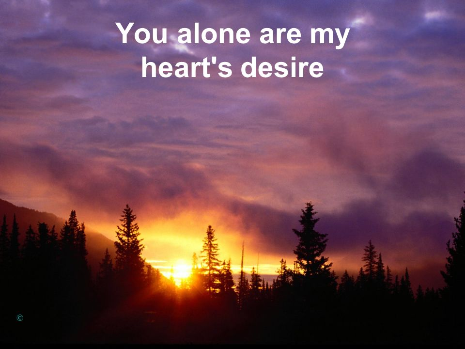 You alone are my heart's desire ©