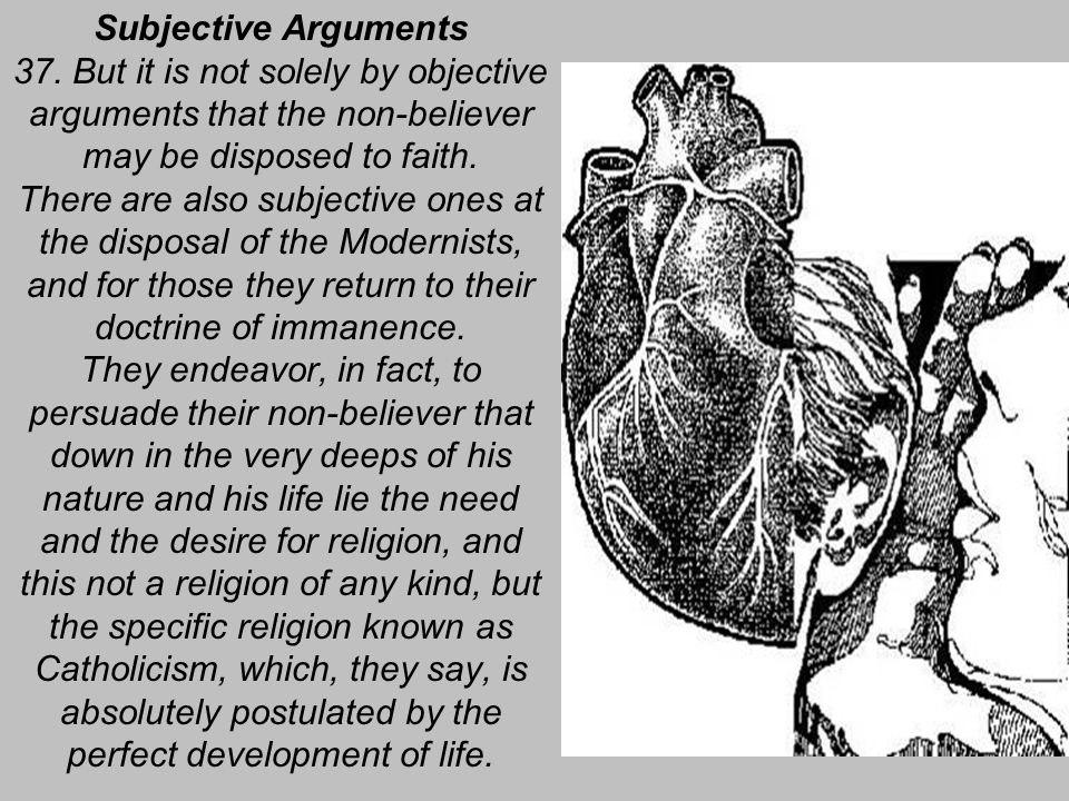 Subjective Arguments 37.