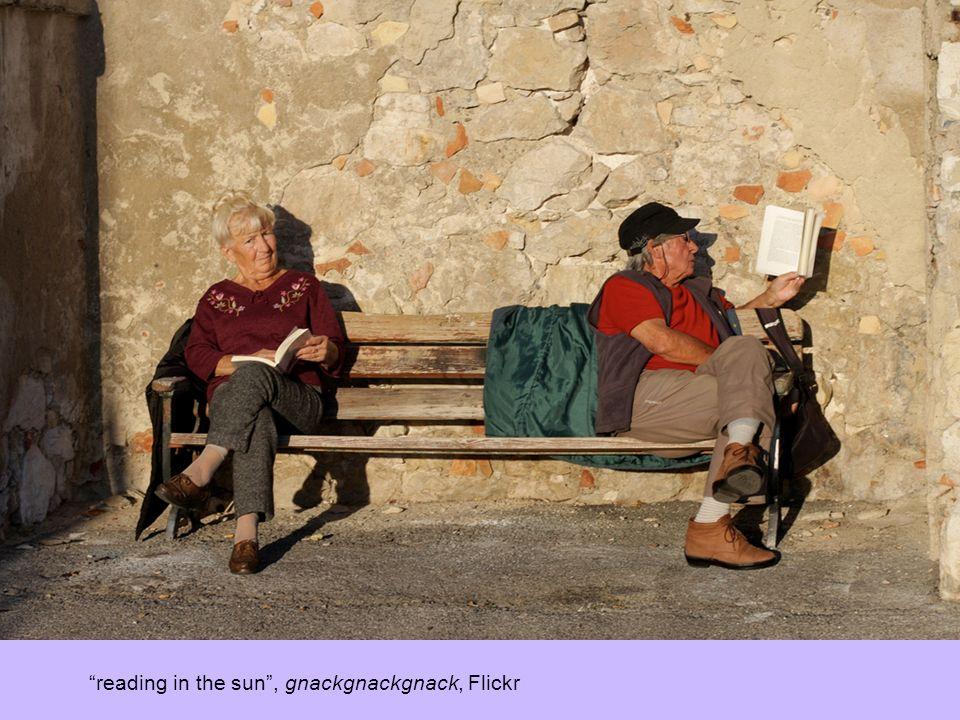 reading in the sun, gnackgnackgnack, Flickr