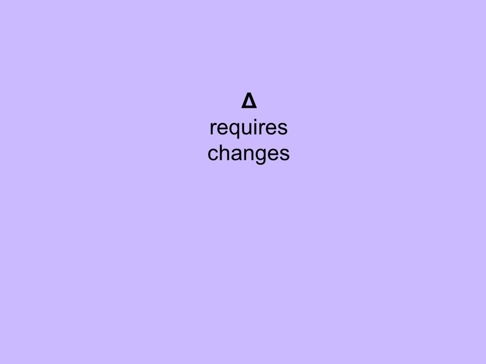 Δ requires changes