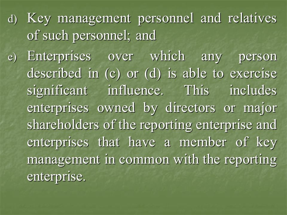 Para-3 a)Enterprises that directly, or indirectly through one or more intermediaries control or controlled by or under common control with the reporting enterprise