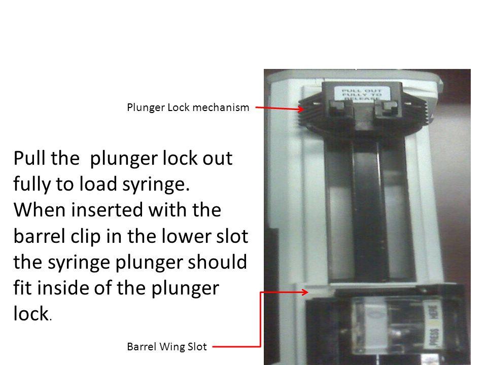 Baxter AS-40 Syringe Pump Syringe loaded into pump assembly.