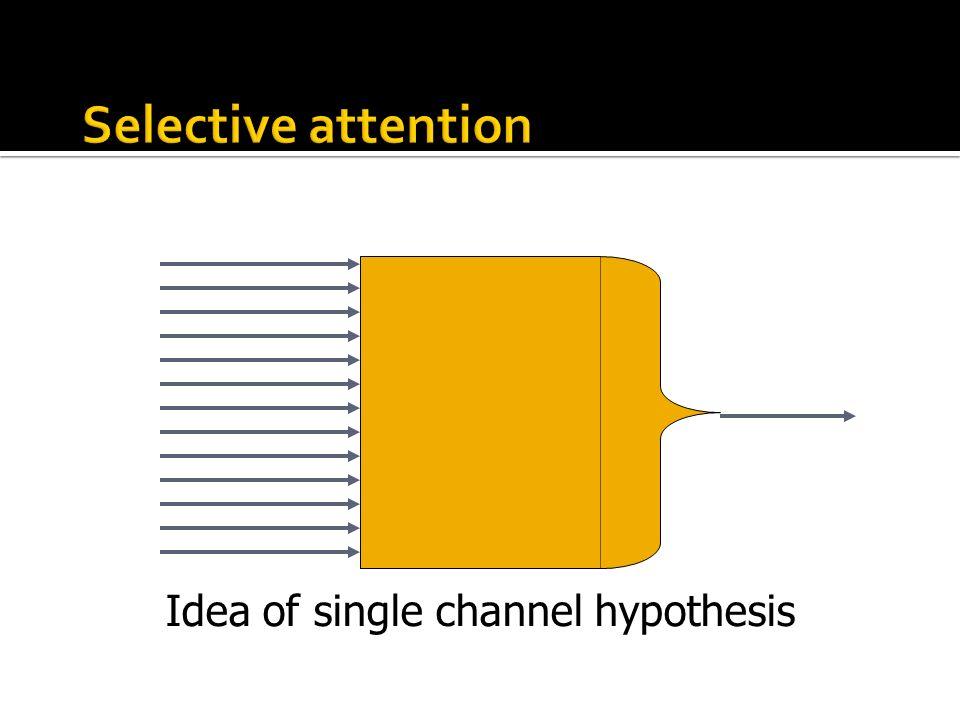 Idea of single channel hypothesis