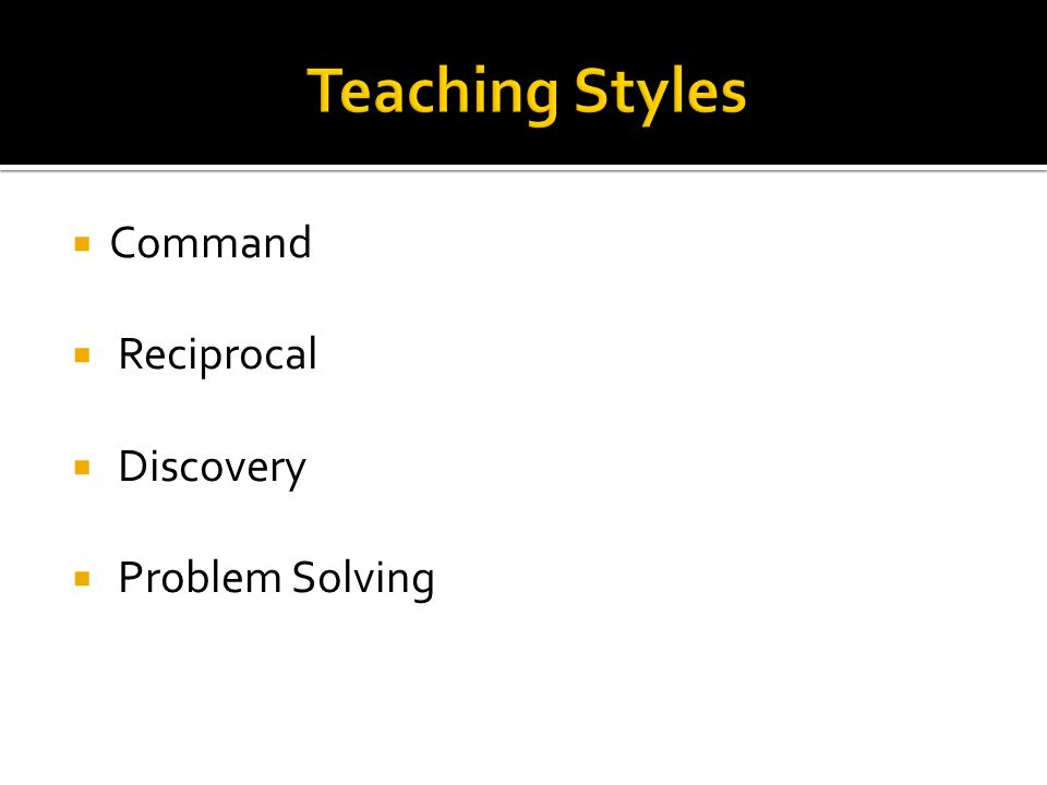 Command Reciprocal Discovery Problem Solving