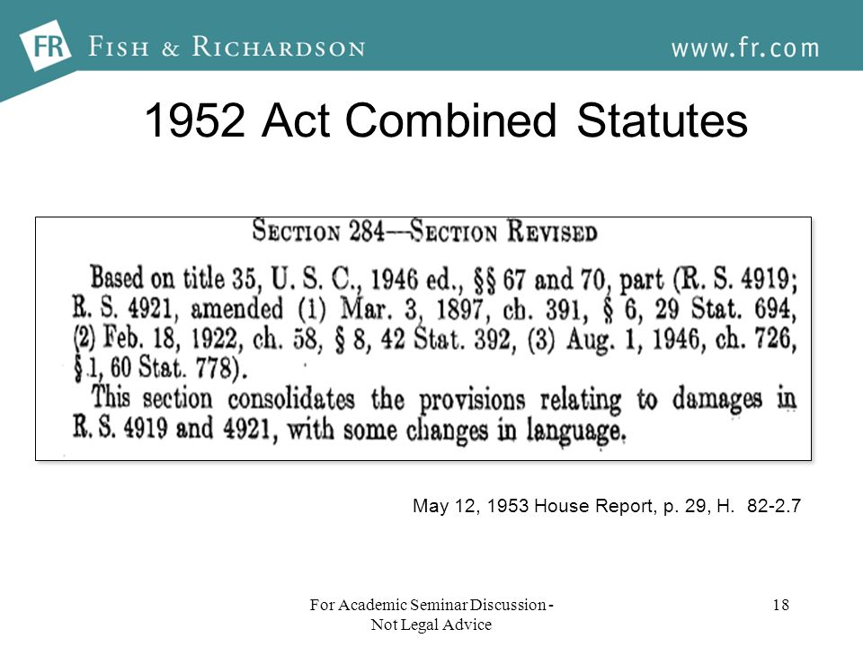 1952 Act Combined Statutes 18 May 12, 1953 House Report, p.