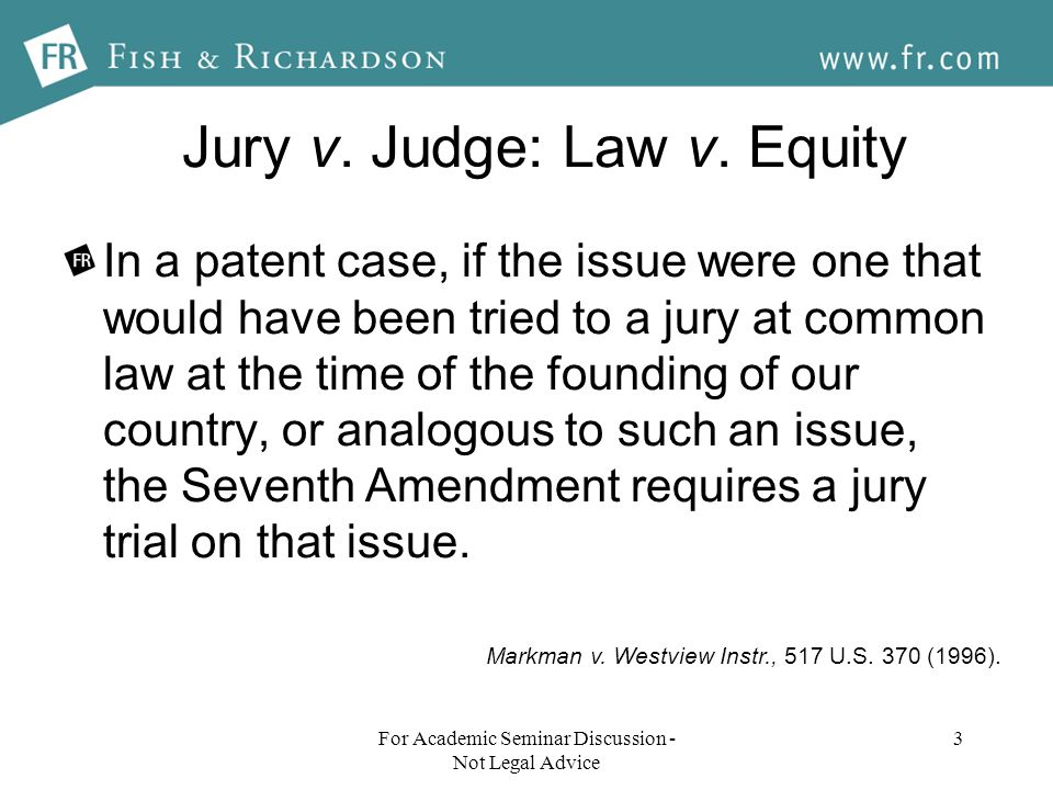 Jury v. Judge: Law v.