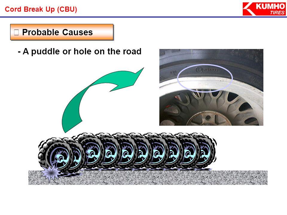 - Sidewalk Probable Causes Cord Break Up (CBU)