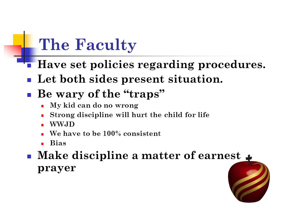 The Faculty Have set policies regarding procedures.