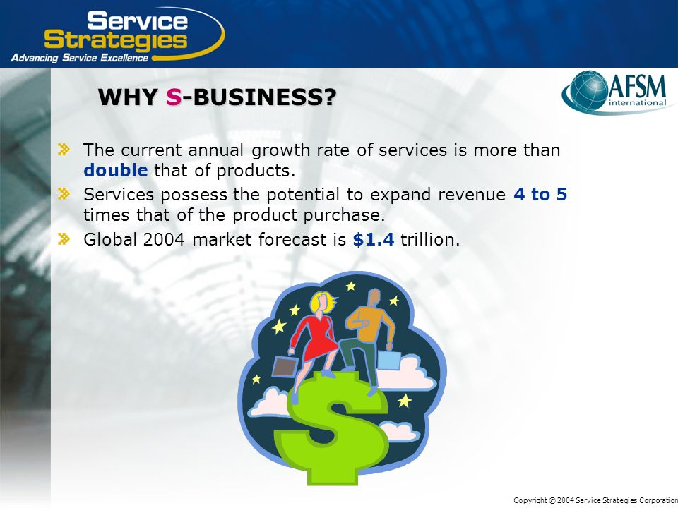 Copyright © 2004 Service Strategies Corporation WHY S-BUSINESS.