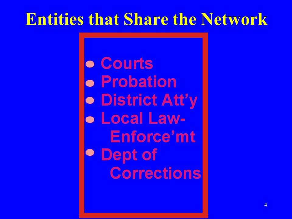 4 Entities that Share the Network