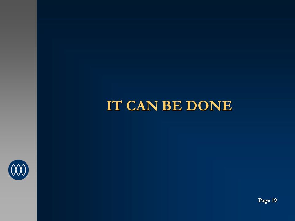 IT CAN BE DONE Page 19