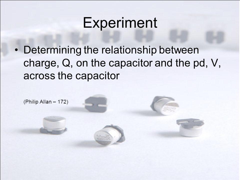 Experiment Discharging a capacitor (Philip Allan – 186)