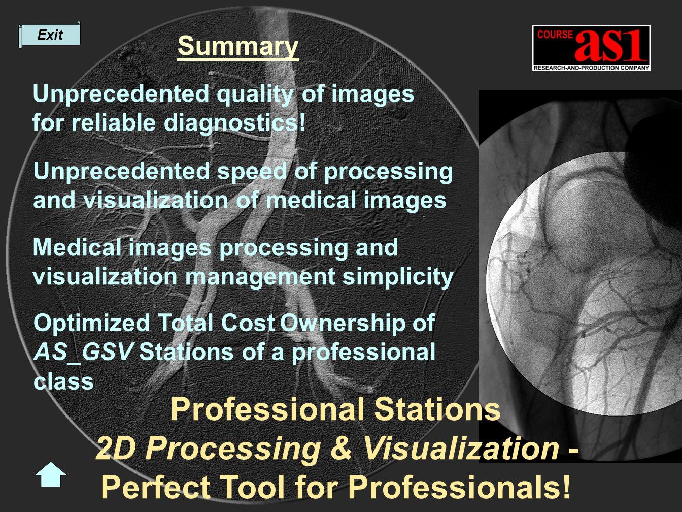 Summary Unprecedented quality of images for reliable diagnostics.
