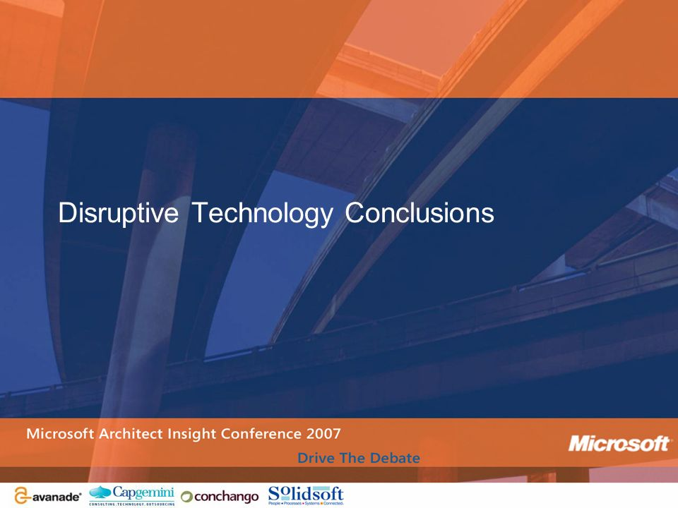 Disruptive Technology Conclusions