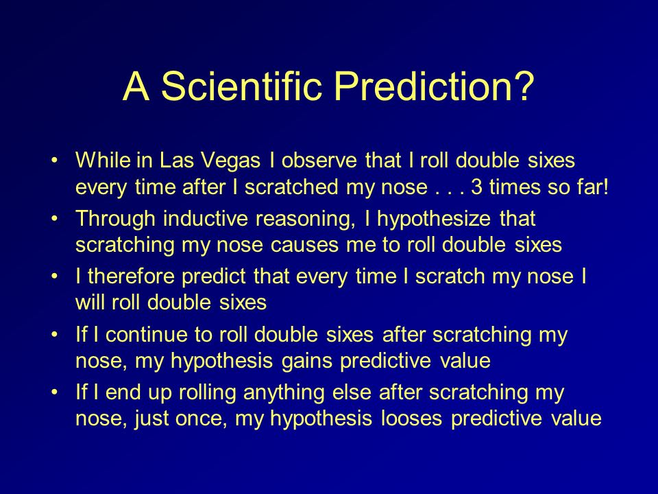 All scientists actually do accept the truth of their hypotheses well shy of 100% certainty...