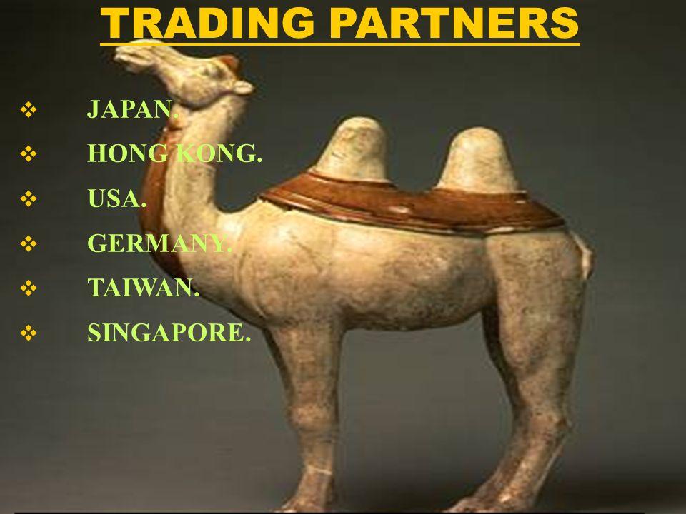 JAPAN. HONG KONG. USA. GERMANY. TAIWAN. SINGAPORE. TRADING PARTNERS