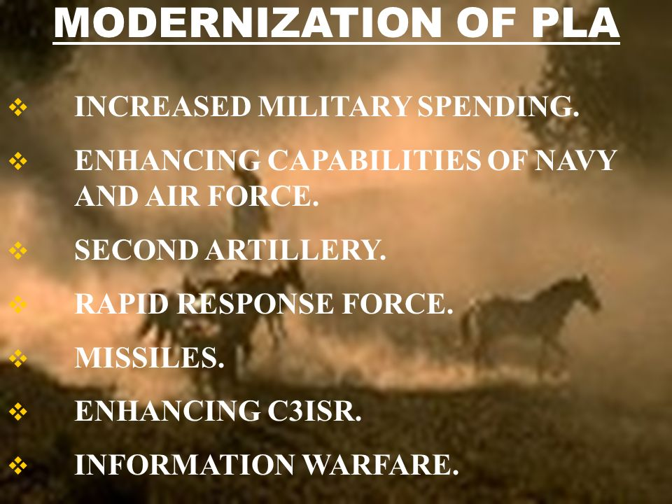 INCREASED MILITARY SPENDING. ENHANCING CAPABILITIES OF NAVY AND AIR FORCE.