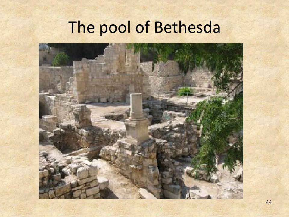 44 The pool of Bethesda