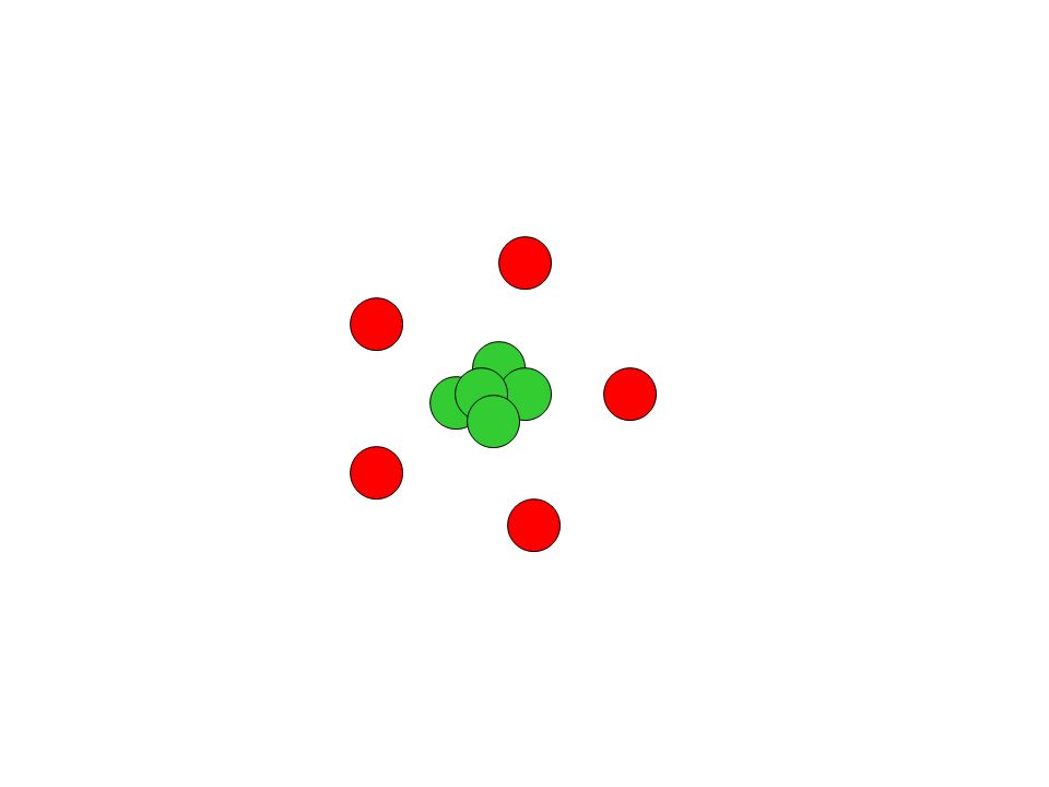 green is trapped inside. Only red balls can be added or taken away…