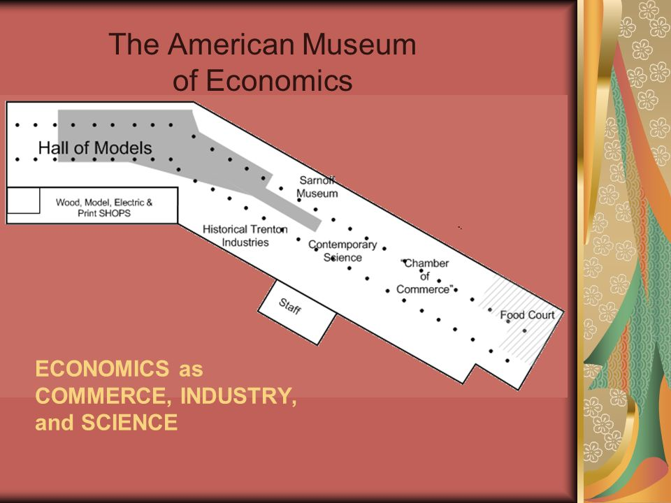 The American Museum of Economics ECONOMICS as COMMERCE, INDUSTRY, and SCIENCE