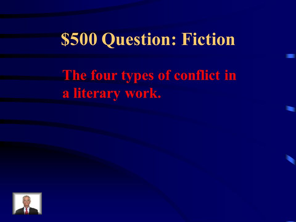 $400 Answer: Fiction What is irony