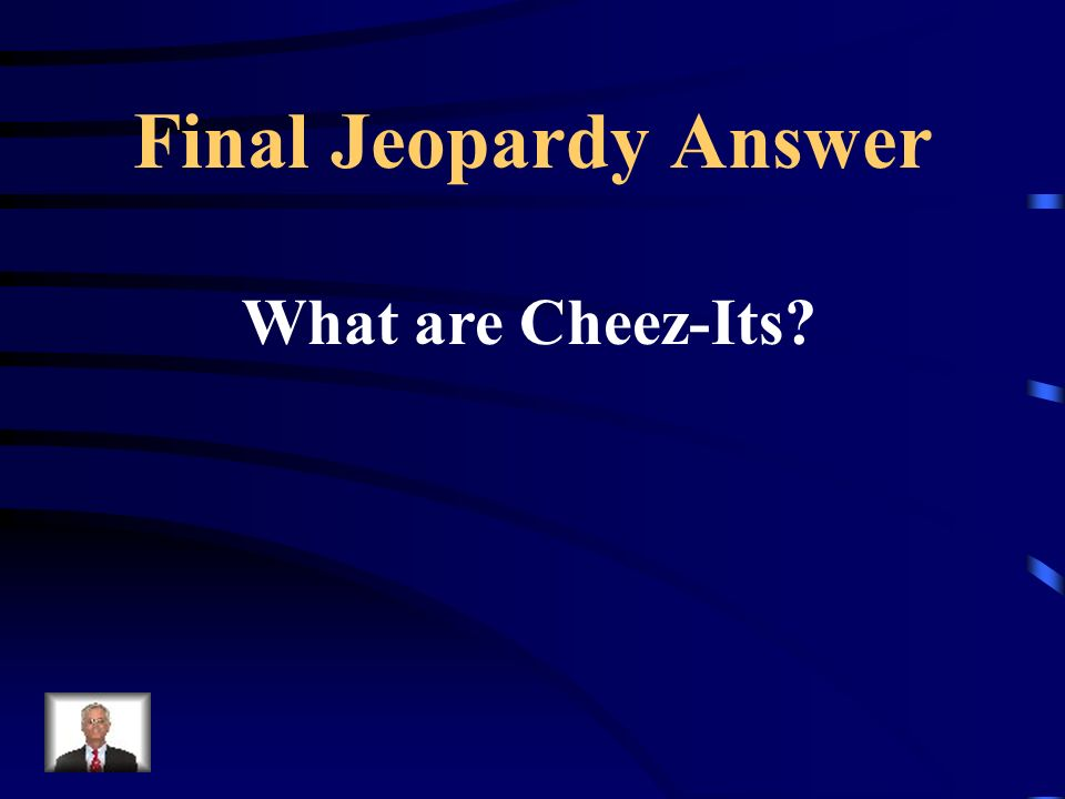 Final Jeopardy What snack does Mrs. Becker feel should be its own food group