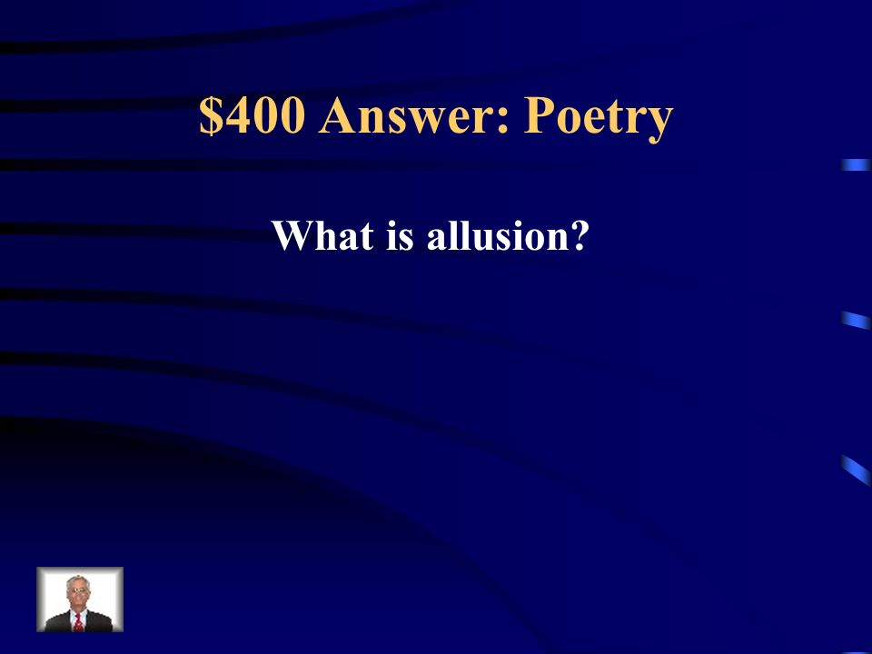 $400 Question: Poetry I violated the Noah rule: predicting rain doesn t count; building arks does. ~~Warren Buffett
