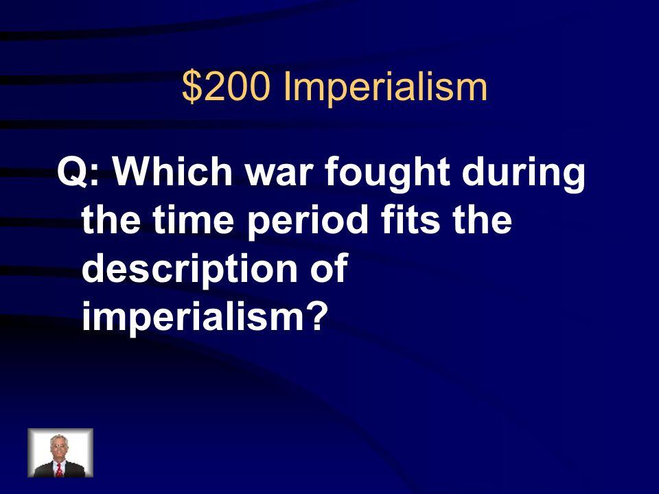 $100 Imperialism R: Open Door Policy
