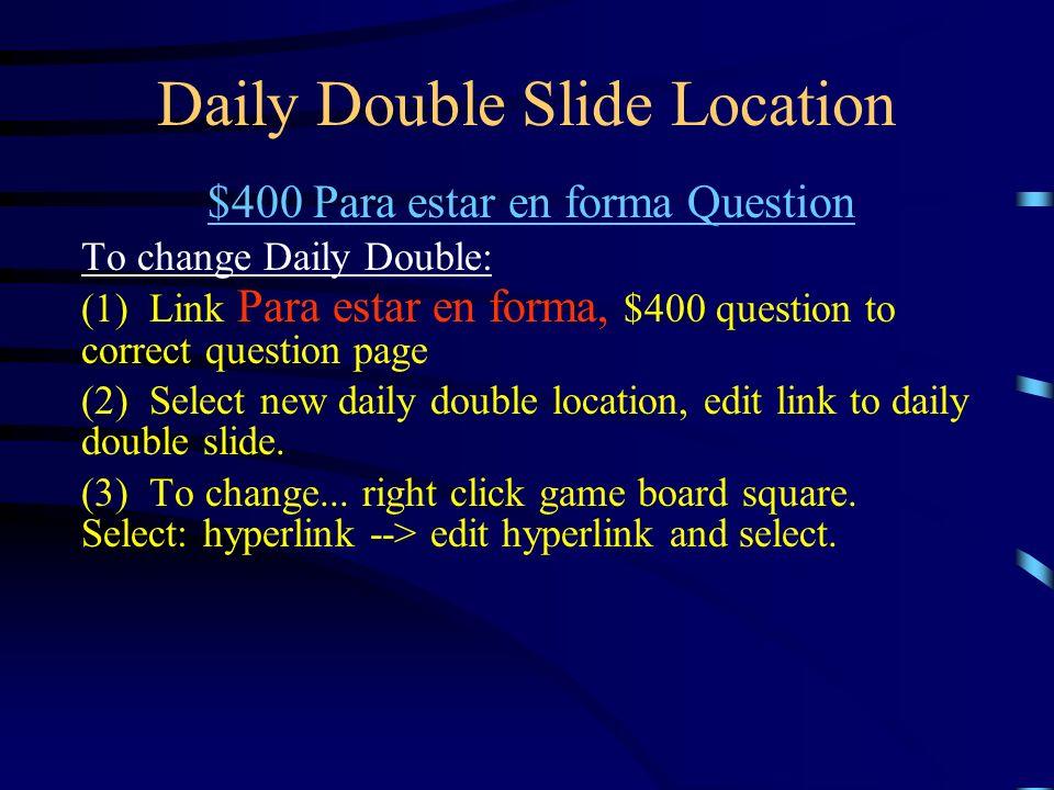 Daily Double Réponse Dollar Diplomacy