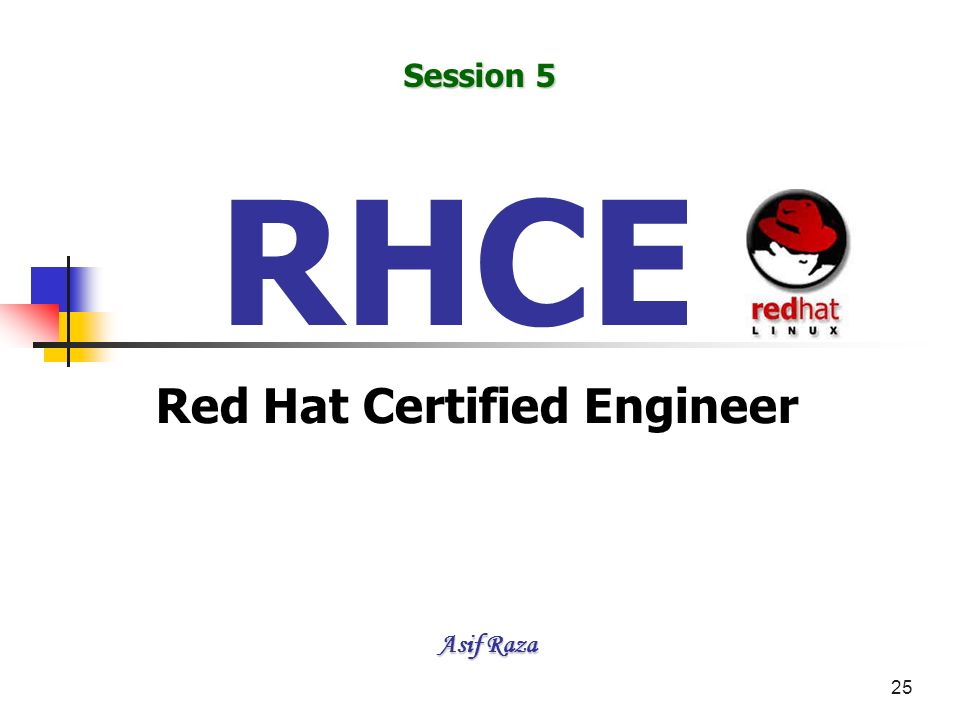 25 RHCE Red Hat Certified Engineer Asif Raza Session 5