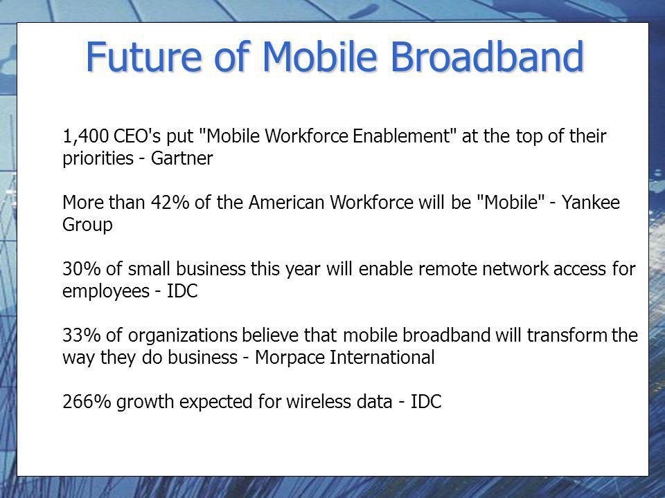 Future of Mobile Broadband 1,400 CEO's put