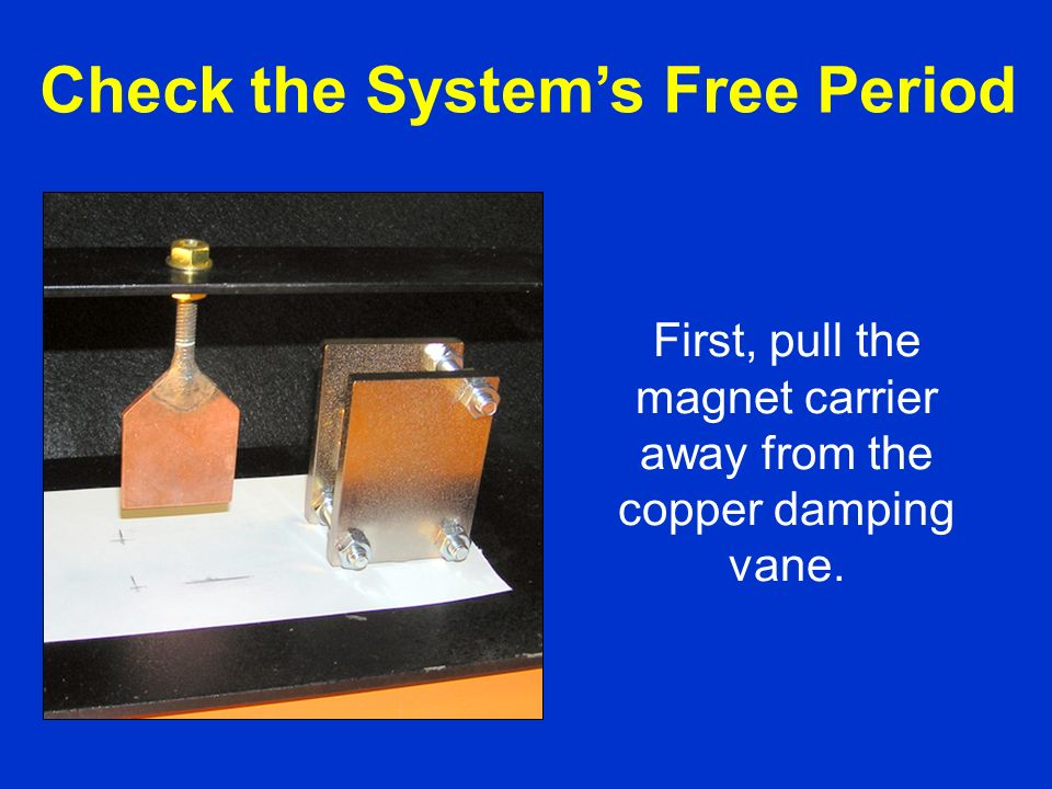 This calibration is independent of the AS1 spring and damping system.