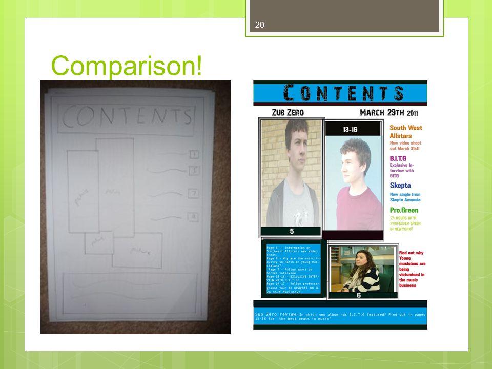 20 Comparison!