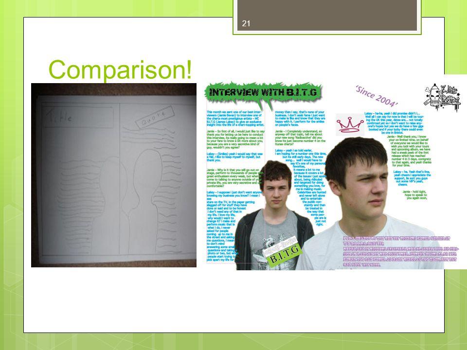 21 Comparison!