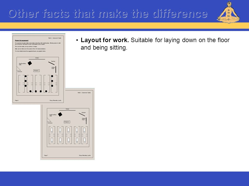 Other facts that make the difference Layout for work. Suitable for laying down on the floor and being sitting.