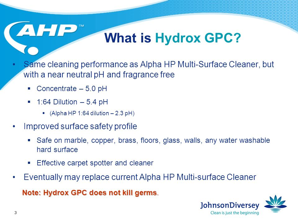 3 What is Hydrox GPC.