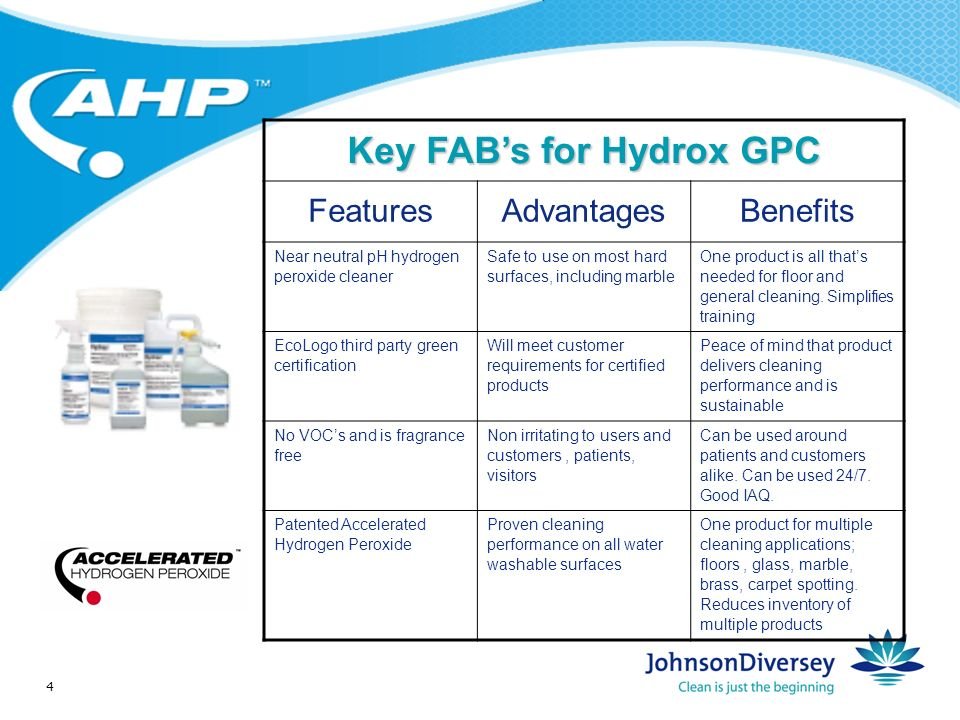 5 Hydrox GPC A near neutral pH general cleaner based on Now you can clean surfaces with a low cost hydrogen peroxide cleaner, including marble floors!