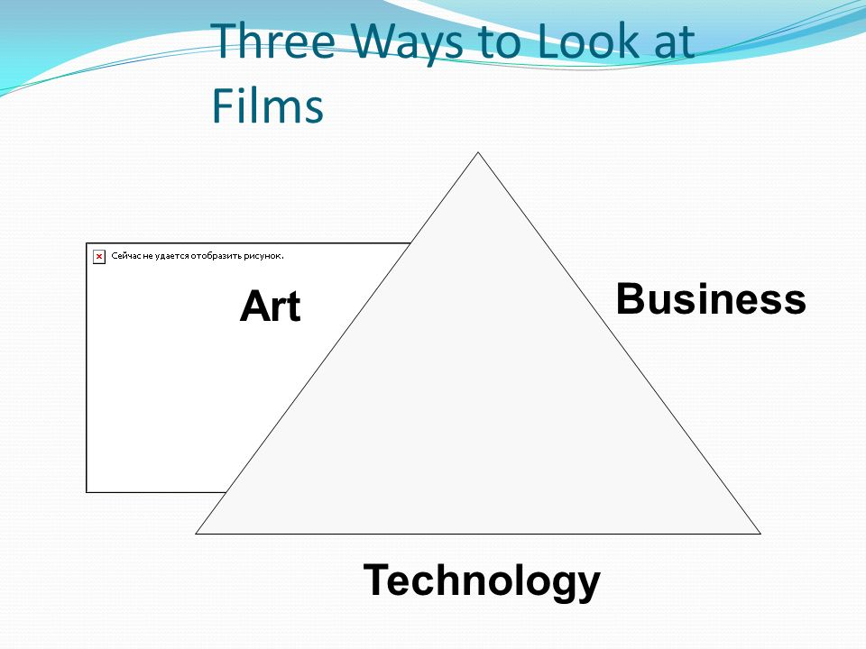 Three Ways to Look at Films Technology Art Business