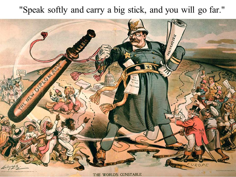 Speak softly and carry a big stick, and you will go far.