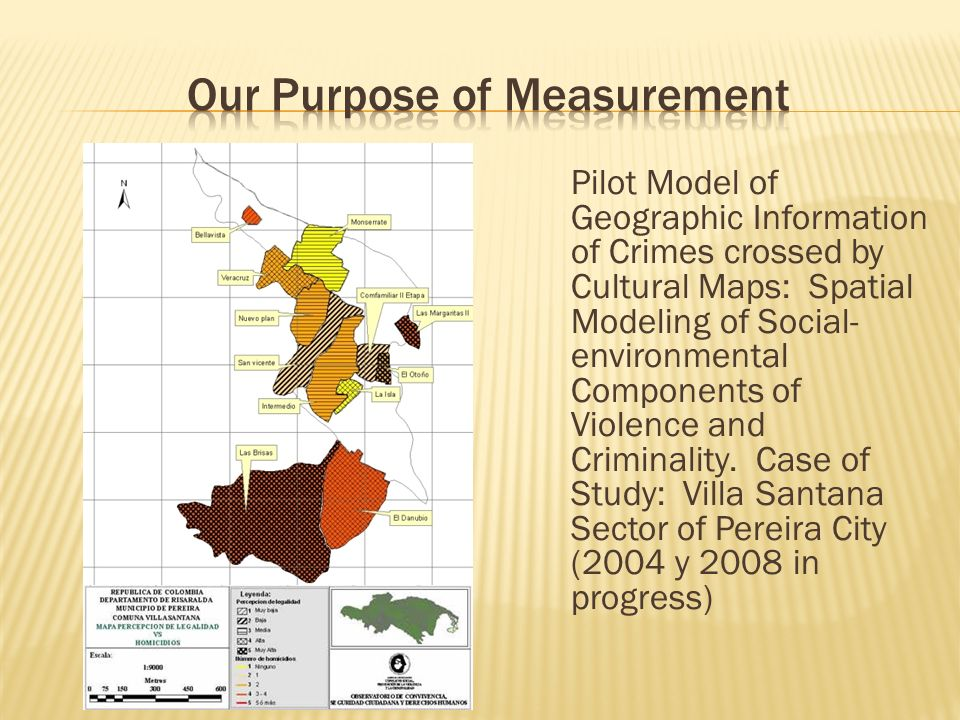 Pilot Model of Geographic Information of Crimes crossed by Cultural Maps: Spatial Modeling of Social- environmental Components of Violence and Criminality.