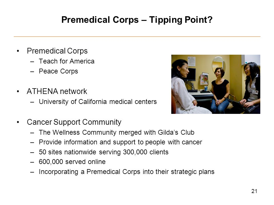 21 Premedical Corps – Tipping Point.
