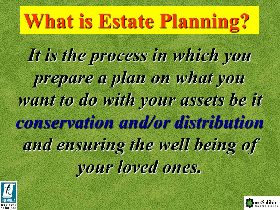 C F P The Main link to C omplete F inancial P lanning The Main link to C omplete F inancial P lanning Distribution Why Estate Planning?