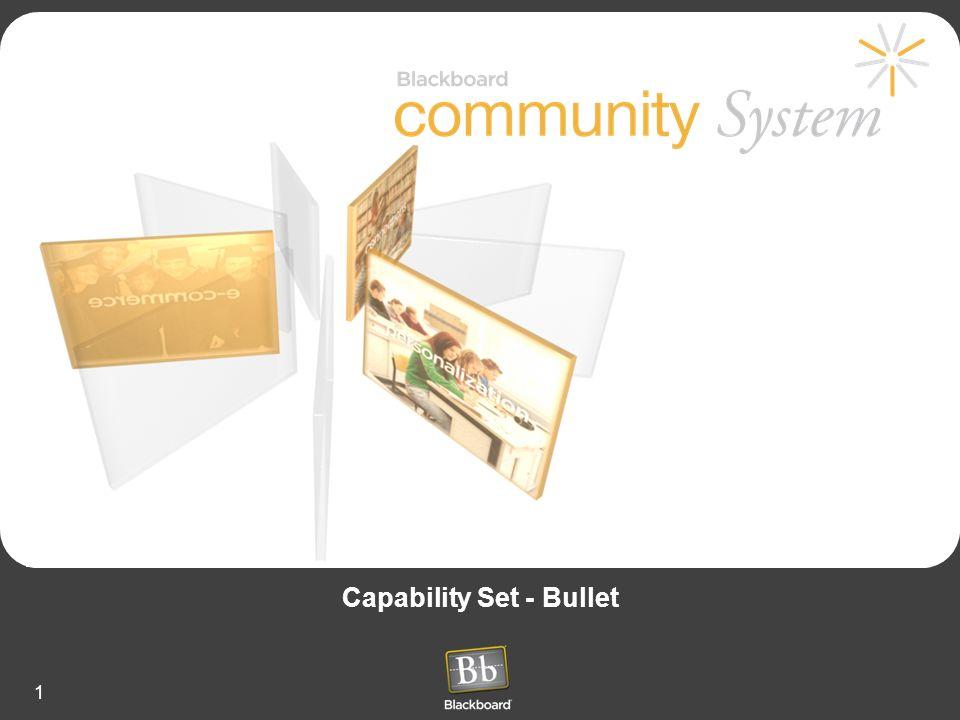 1 Capability Set - Bullet