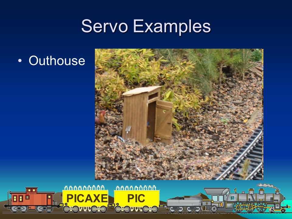 PICAXEPIC 43 Servo Examples Outhouse