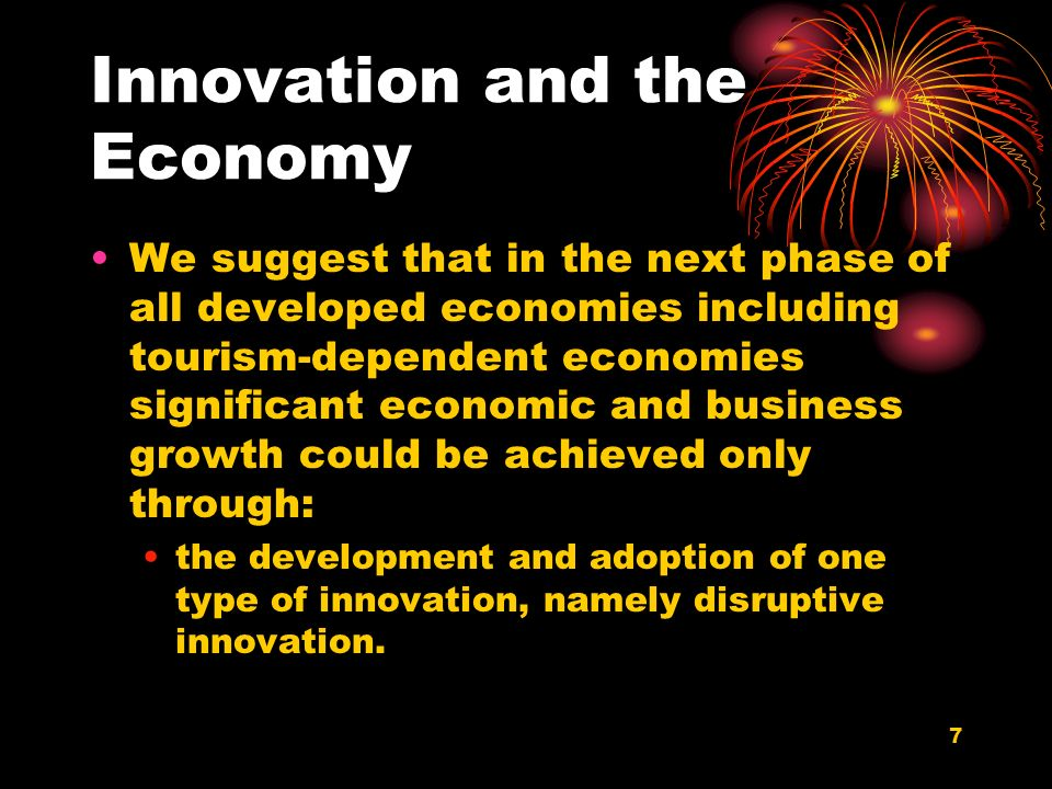 28 Innovation in the Tourism Industry Like most other industries, the tourism industry has seen its share of innovative products and services that were introduced in the last fifty years.